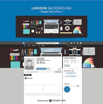 Linkedin ontwerp achtergrond