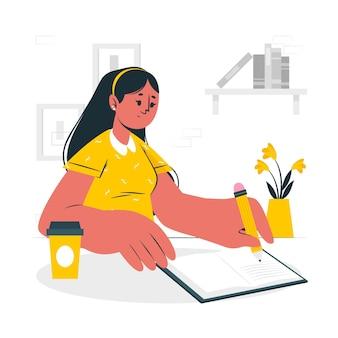 Linkshandige concept illustratie