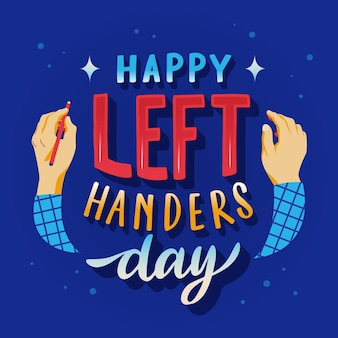 Linkshandige dag belettering concept