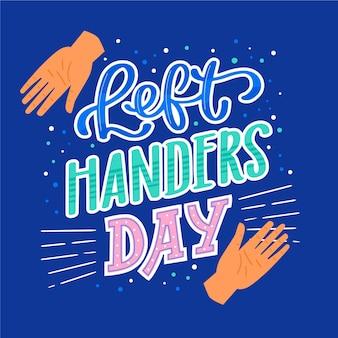 Linkshandige dag belettering