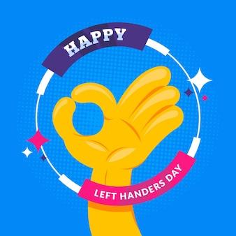 Linkshandige dag illustratie