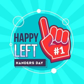 Linkshandige dag met begroeting