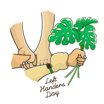 Linkshandige dag met blad