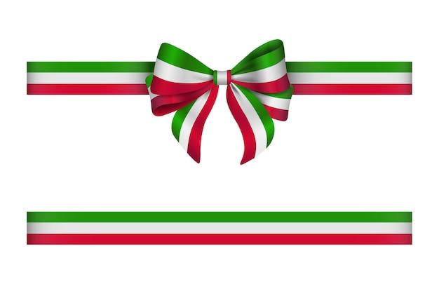 Lint en boog met italiaanse vlagkleuren