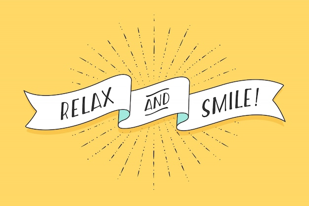 Lint met tekst relax and smile