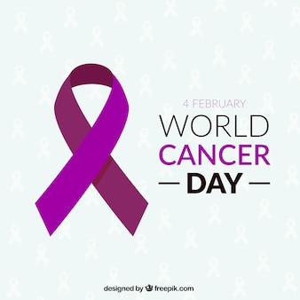 Lint voor wereld kanker dag