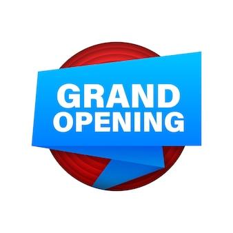 Lintlabel met grote opening. megafoon banner. webdesign. vector voorraad illustratie.