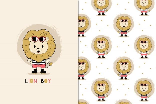 Lion boy patroon
