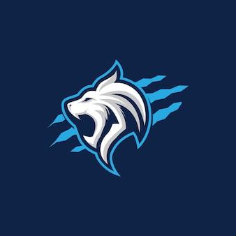 Lion brullende iconische logo.