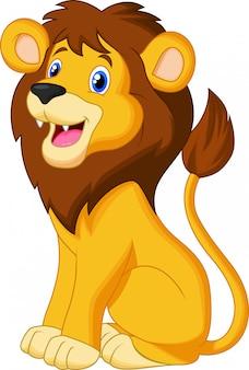 Lion cartoon zittend