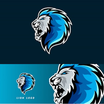 Lion esport gaming mascotte embleem