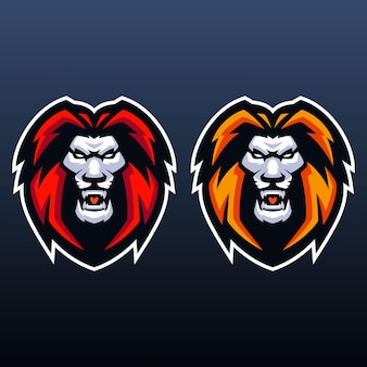 Lion esports logo-sjablonen
