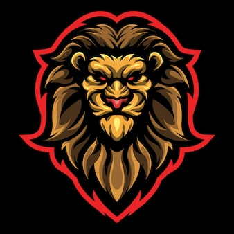 Lion head esport logo afbeelding