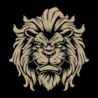 Lion head illustratie 1