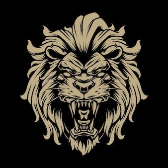 Lion head illustratie 4