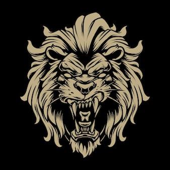 Lion head illustratie 5
