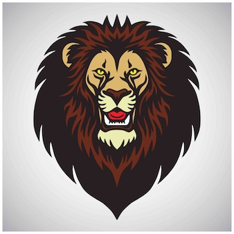 Lion head mascot-logo,