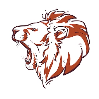 Lion head sketch vector