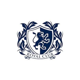 Lion heraldry-logo