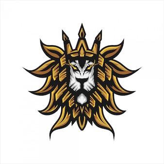 Lion hoofd logo sjabloon.