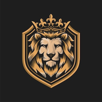 Lion illustratie sjabloon