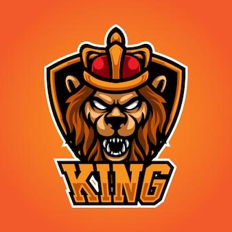Lion king e sport mascot-logo