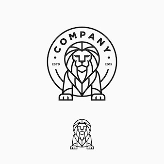 Lion line art design illustration vector template