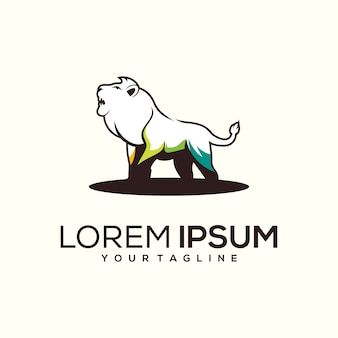 Lion logo ontwerp
