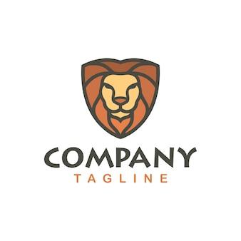 Lion logo template stock afbeelding