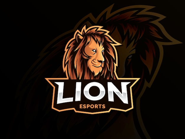 Lion mascotte sport stijl logo