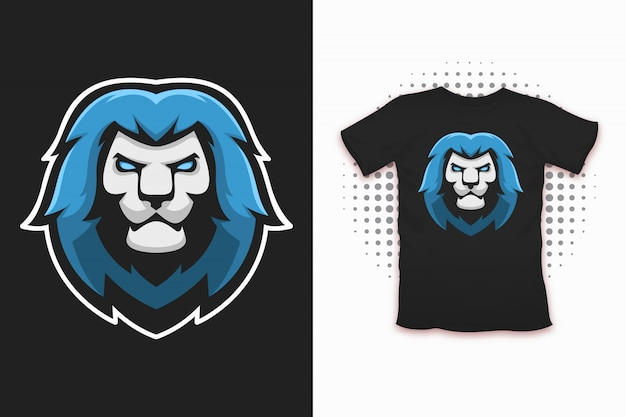 Lion print voor t-shirt design