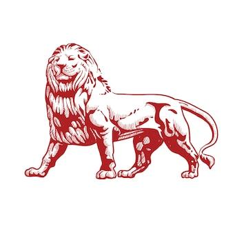 Lion red full body