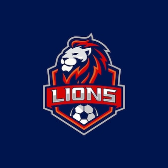 Lion voetbalteam logo