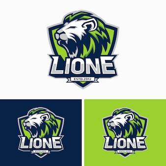 Lions head sport logo image