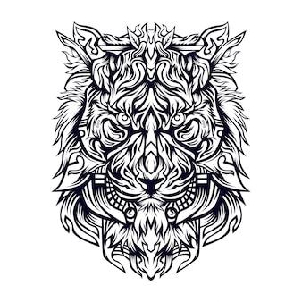 Lionza illustratie