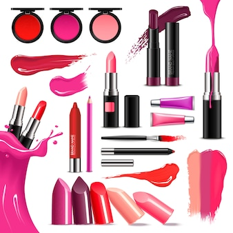 Lip make-up kleur realistische collectie