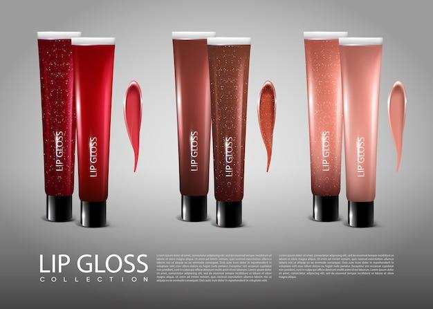 Lipgloss fles set