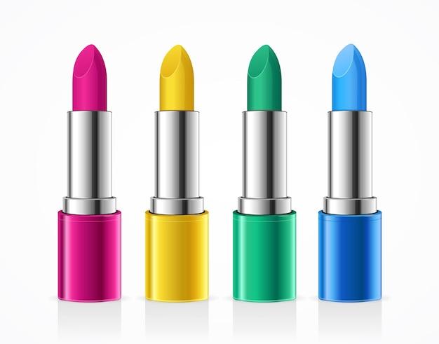 Lippenstift kleurset. mode trend.