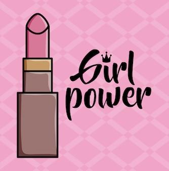 Lippenstift make-up pop-art stijl