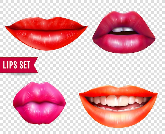 Lips transparante set