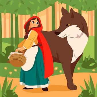 Little red riding hood illustratie