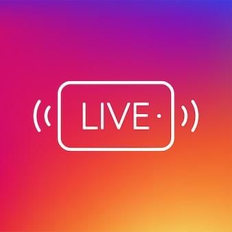 Live banner in platte stijllive gratis video tutorials webinar webcast stream streaming voetbal