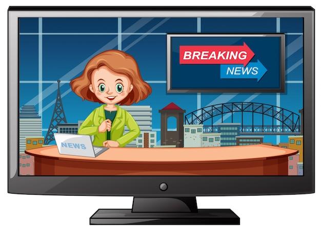 Live breaking news in de studio