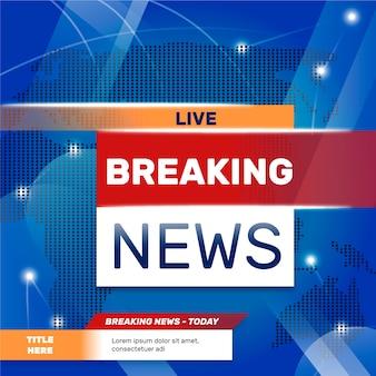 Live breaking news-sjabloonstijl