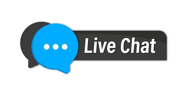Live chat-knop. online ondersteuningscallcenter. klantenservice. chat messenger-pictogram voor webbestemmingspagina, ui, mobiele app, bannersjabloon. klantenondersteuningsknop online chatten voor advies