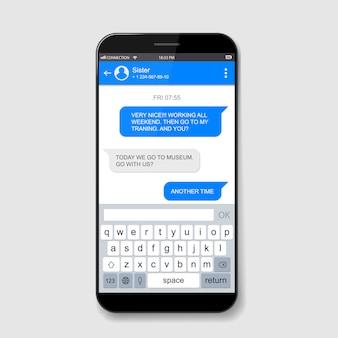 Live chatboxen voor mobiele telefoons. messenger-venster.