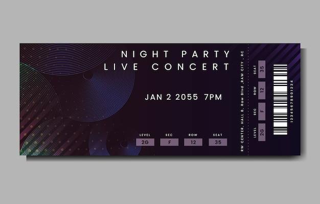 Live concertkaartje
