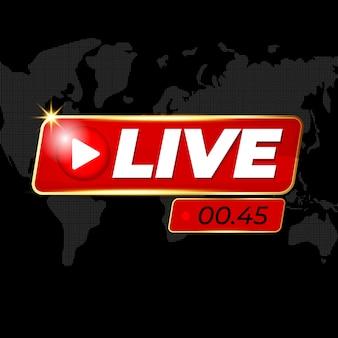 Live logo voor nieuwsbanner of live streaming