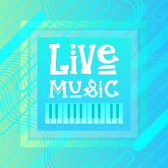 Live muziek concertaffiche festivalbanner