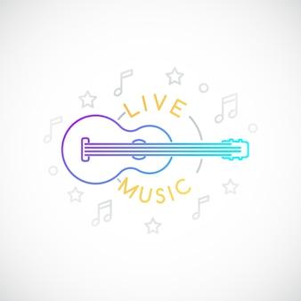 Live muziek embleem
